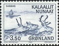 Greenland - The Old Civilisations of Saqqaq and Tunit-Dorset -3,50 kr- Blue