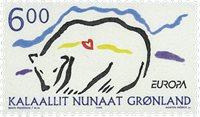 Grønland - 1999. Europafrimærke - 6,00 kr. - Flerfarvet