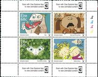 Ierland - Ierse animatie's - Postfrisse serie van 4