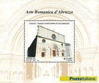 Italien - Romansk kunst i Abruzzo - Postfrisk miniark