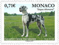Monaco - Exposition de chiens - Timbre neuf
