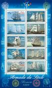 Frankrig - Sejlskibe - Postfrisk miniark