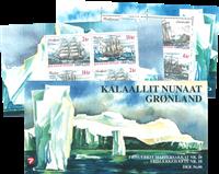 Groenland Bateaux carnet neuf avec 2 bloc-feuillets