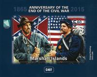 Marshall Øerne - Borgerkrigens afslutning - Postfrisk miniark