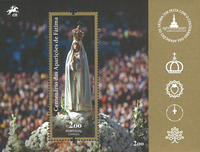 Portugal - Pope's visit in Fátima - Mint souvenir sheet
