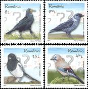 Rumænien - Intelligente fugle - Postfrisk sæt 4v