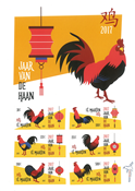 St. Martin - Year of the Rooster - Mint souvenir sheet