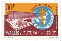 Wallis PA027 * 30 fr. Inauguration Org. Santé 1966