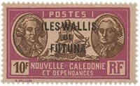 Wallis 64 * 10fr lilas+sépia s rose Nlle-Calédonie  1928-38