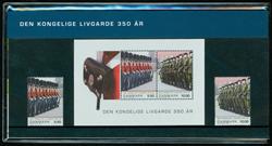 Danmark - Den Kongelige Livgarde 350 år. Souvenirmappe.