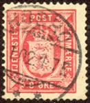 Danmark 1899 - AFA nr. 6b(Tj) - Tjenestemærke