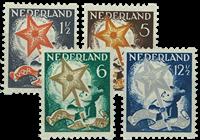 Tweezijdige hoekroltanding Kind 1933 - Nr. R98-R101 - Gebruikt