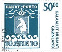 Grønland - Pakkeporto - Stemplet frimærke