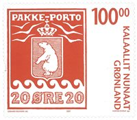 Grønland - Pakkeporto III - Postfrisk frimærke
