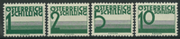 Autriche 1925-34 - AFA no 155-58 - Taxe