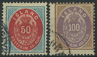 Islande 1892 - AFA no 16A+17A