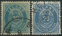 Island 1882 - AFA 14+14a.