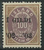 Island 1902 - AFA nr. 34 - Postfrisk