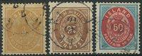 Island 1875-92 - AFA 12 + 9B med omv. VM + 16A - Stemplet