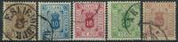 Islande 1875-95 - Timbres service - Obl.