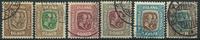 Islande 1907 - 6 timbres obl.