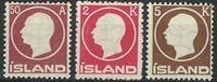 Islande 1912 - AFA no 72 + 74-75 - Neuf