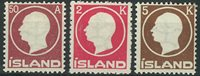 Island 1912 - AFA 72 + 74-75 - Postfrisk