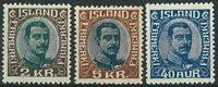 Island 1920-22 - AFA 97-98 + 103 - Ubrugt