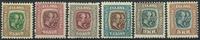 Islande 1907 - AFA no 57-62 - Neuf
