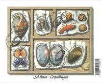 Belgien - Konkylier og skaller - Stemplet miniark