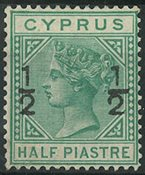Chypre 1882 - AFA no. 25  - Neuf avec charnières