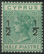 Cyprus 1882 - AFA no. 25  - unused