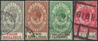 Gibraltar 1912-30 - AFA nr. 71 + 86-88 - Stemplet