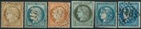 Frankrig 1870-71 - AFA nr. 33-36 + 44II+III - Stemplet