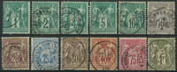 France 1876-78 - AFA no. 56-67 - cancelled
