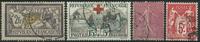 France 1901-25 - AFA no. 99 + 129 + 198 + 184II - Oblitérés
