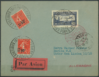 France 1930 - AFA no. 204 + 206 + 246 - Lettres