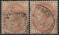 Grande-Bretagne 1880-81 - AFA no. 53 + 64 - Oblitérés