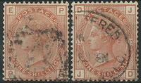 England 1880-81 - AFA nr. 53 + 64 - Stemplet