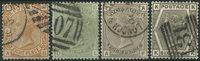Grande-Bretagne 1873-81 - AFA no. 45 + 48 + 61 + 63 - Oblitérés