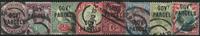 England 1887-1901 - AFA nr. 26-33 - Stemplet