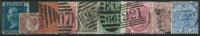 Grande-Bretagne 1841-80 - 9 timbres oblitérés
