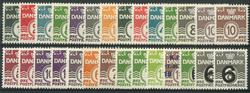 Danmark 1933-52 - 28 postfriske bølgelinie stålstik