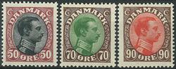 Danmark 1919-20 - AFA nr. 106 + 108-09 - Postfrisk