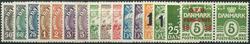 Danmark 1934-62 - 17 postfriske mærker