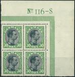 Danmark 1918 - 4-blok - Postfrisk