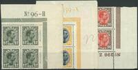 Danmark 1918-20 - AFA nr. 100 + 104 + 109 - 4-blok  - Postfrisk