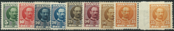 Danmark 1907-12 - AFA nr. 54-58 + 63-63a - Postfrisk