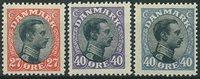 Danmark 1918 - AFA 102 + 105-105a - Postfrisk