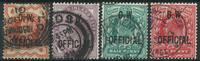 England 1896-1902 - AFA nr. 64-65 + 69-70 - Tjenestemærker - Stemplet